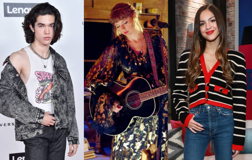 "taylor-swift-recruits-her-""two-kids""-olivia-rodrigo-and-conan-gray-to-share-new-'fearless'-snippets"